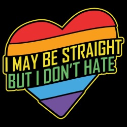 I may be straight but I don\'t hate