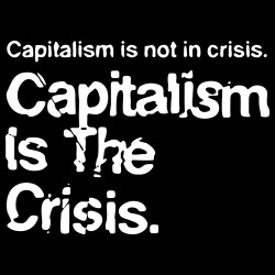 Capitalism is not in crisis. Capitalism is the crisis.