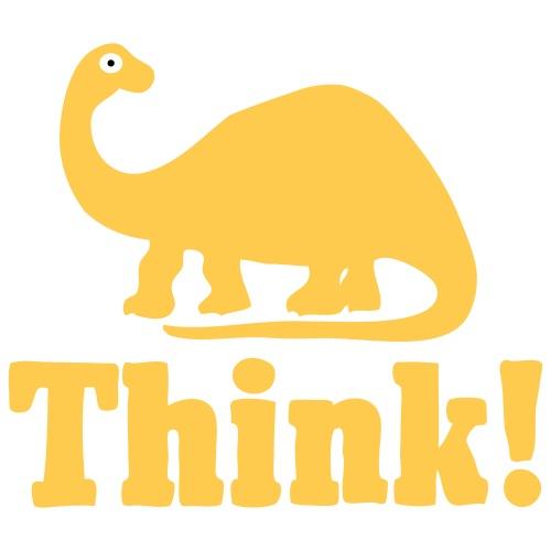Brontosaurus Think Tri Color - Women's T-Shirt