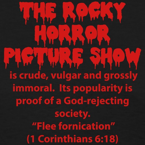 rocky horror is crude - Women's T-Shirt