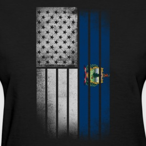 USA Vintage Vermont State Flag - Women's T-Shirt