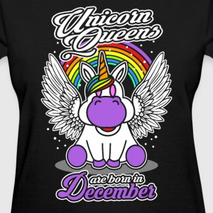 December - Birthday - Unicorn - Queen - EN - Women's T-Shirt