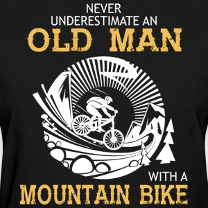 Old Man With A Mountain Bike T Shirt - Women's T-Shirt