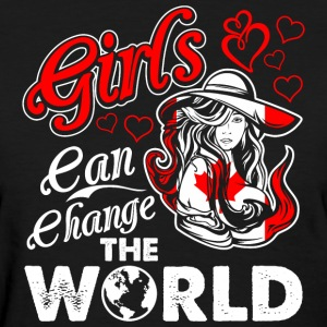 Canadian Girls Can Change The World - Women's T-Shirt