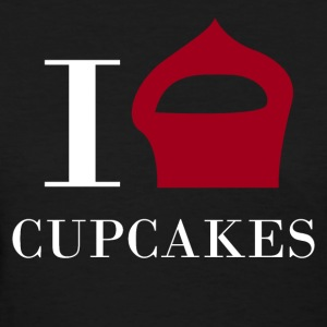 I love CUPCAKES - Women's T-Shirt