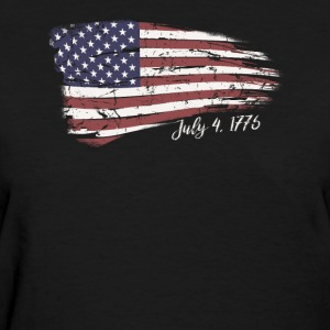 Independence Day 4th of July American Flag 1776 - Women's T-Shirt