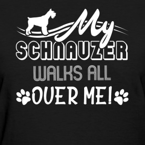 SCHNAUZER WALKS SHIRT - Women's T-Shirt