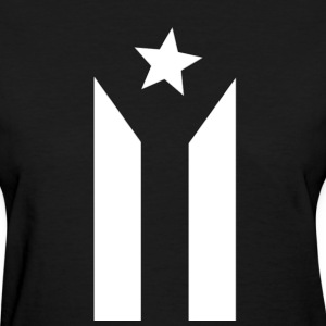 Puerto Rican Black and White Flag - Women's T-Shirt