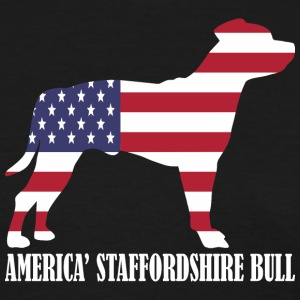 American Staffordshire Bull Dog Flag Memorial Day - T-shirt pour femmes
