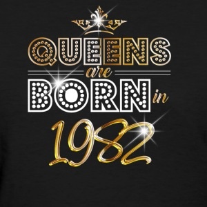 1982 - Birthday - Queen - Gold - EN - Women's T-Shirt