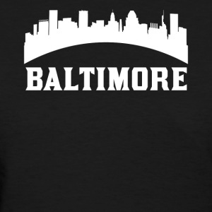 Vintage Style Skyline Of Baltimore MD - Women's T-Shirt