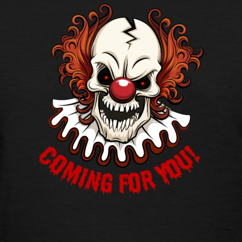 Scary Clown Creepy Halloween Shirt Gifts T Shirt T - Women's T-Shirt