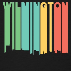 Retro 1970's Style Wilmington NC Skyline - Women's T-Shirt