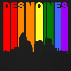 Des Moines Iowa Gay Pride Rainbow Skyline - Women's T-Shirt