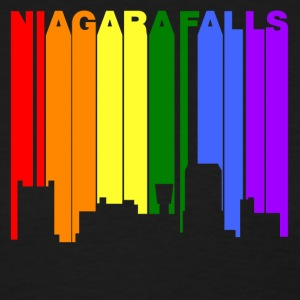 Niagara Falls New York Gay Pride Rainbow Skyline - Women's T-Shirt