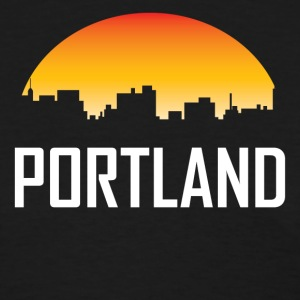 Portland Maine Sunset Skyline - Women's T-Shirt