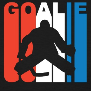 Red White And Blue Hockey Goalie - Women's T-Shirt