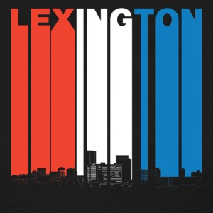 Red White And Blue Lexington Kentucky Skyline - Women's T-Shirt