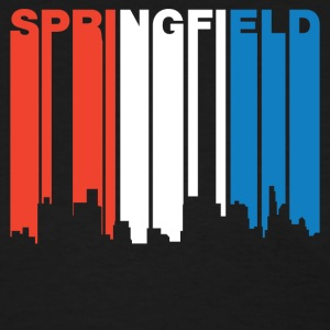 Red White And Blue Springfield Illinois Skyline - Women's T-Shirt