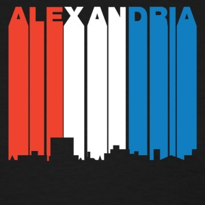 Red White And Blue Alexandria Louisiana Skyline - Women's T-Shirt