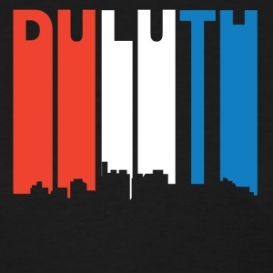 Red White And Blue Duluth Minnesota Skyline - Women's T-Shirt