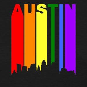 Austin Texas Rainbow Skyline LGBT Gay Pride - Women's T-Shirt