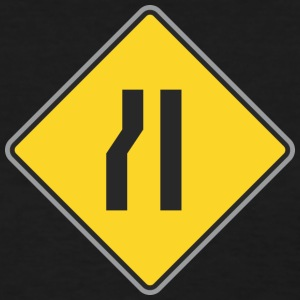 Road_Sign_right_and_curve_ways_right_yellow - Women's T-Shirt