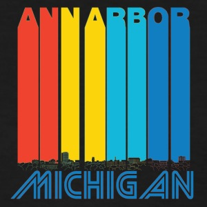 Retro Ann Arbor Michigan Skyline - Women's T-Shirt