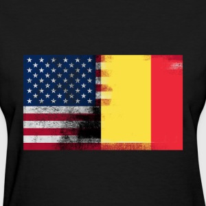 Half Belgian Half American 100% Awesome Flag Belgi - Women's T-Shirt