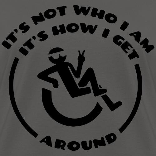 My wheelchair it's not who i am, it's how i go - Women's T-Shirt