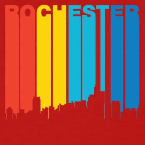 Retro 1970's Style Rochester Michigan Skyline - Women's T-Shirt