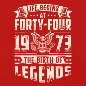 Life Begins At Forty Four Tshirt - Women's T-Shirt