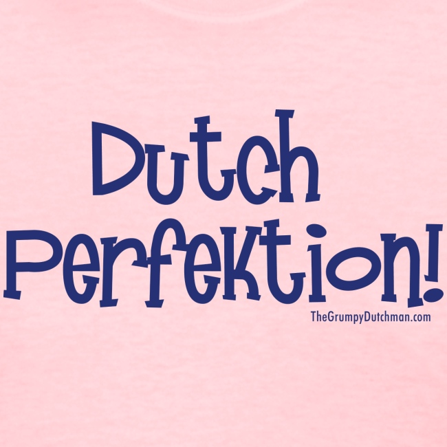 Dutch Perfektion blue lettering