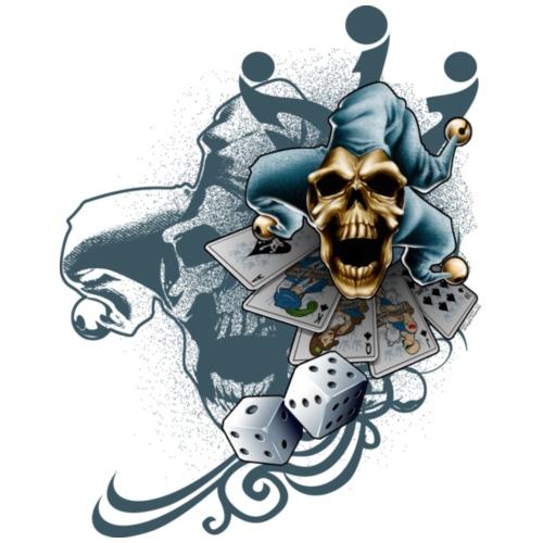 Jester Skull by RollinLow - Women's T-Shirt