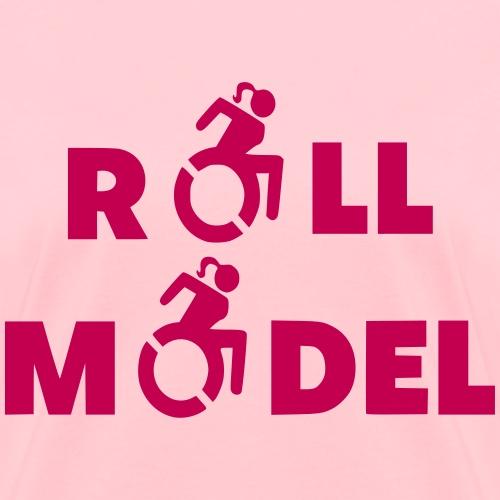 As a lady in a wheelchair i am a roll model - Women's T-Shirt