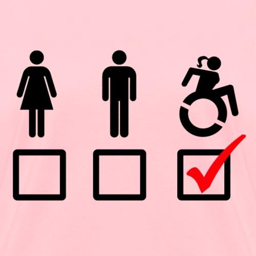 Female wheelchair user, check! - Women's T-Shirt