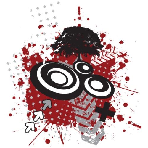 messy graffiti designer graphic - Women's T-Shirt