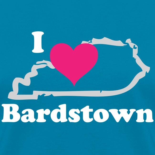 I Heart Bardstown White Lettering Pink Heart