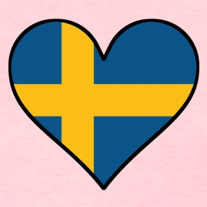 Swedish Flag Heart - Women's T-Shirt