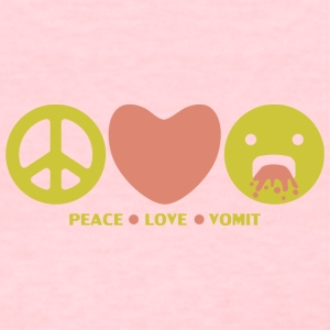 Peace love vomit anti hippie smiley emoticon - Women's T-Shirt