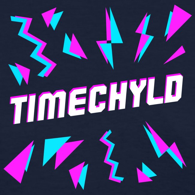 Timechyld Logo with Retro Pattern