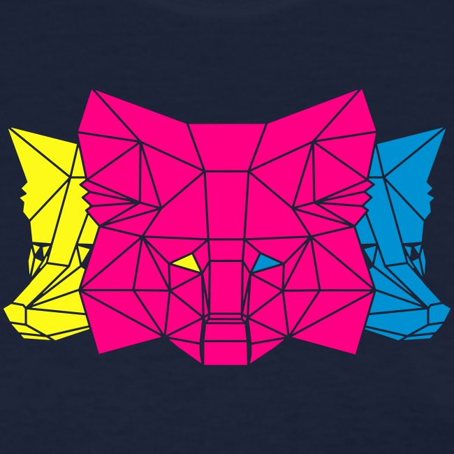 MetaMask Multi Colored Triple Head