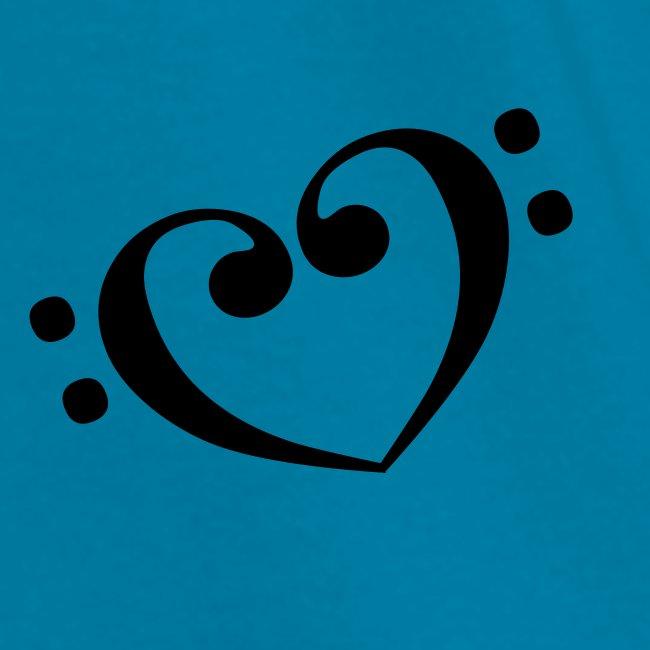 Bass Clef Heart