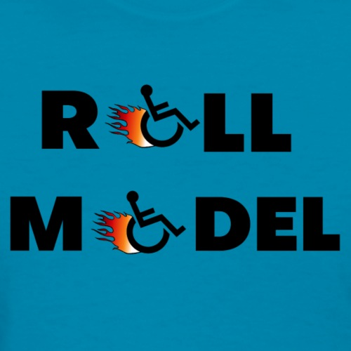 Roll model in a wheelchair, for wheelchair users - Women's T-Shirt