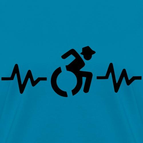 Wheelchair heartbeat, for wheelchair users, roller - Women's T-Shirt