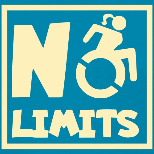No limits for this female wheelchair user - Women's T-Shirt