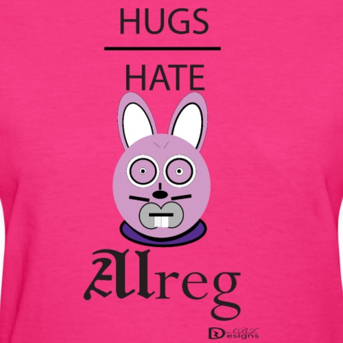 Alreg Adventure Rabbit Hugs over Hate - Women's T-Shirt