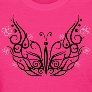 Big butterfly with cherry blossoms - Women's T-Shirt