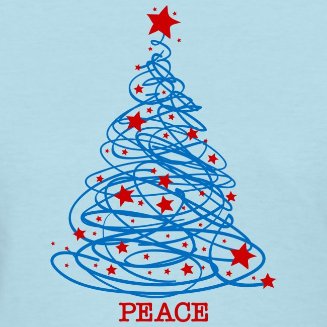 Patriotic Christmas.Patriotic Christmas Tree Women S T Shirt