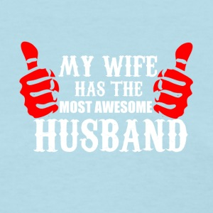 Wife and Husband funny shirt - best husband - Women's T-Shirt